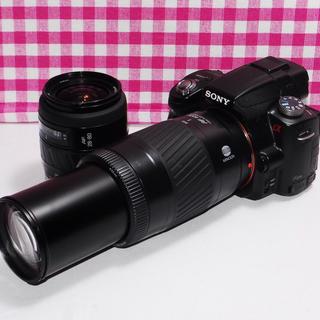 ソニー(SONY)の❤️迫力のある写真を❤️ソニー α55 大迫力のダブルズームキット・安心保証(デジタル一眼)