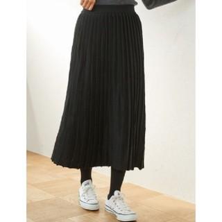 ローリーズファーム(LOWRYS FARM)のロングニットプリーツ風スカート(ロングスカート)