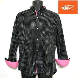 ビームス(BEAMS)の☆BEAMS☆長袖シャツ ドット柄 メンズLサイズ 日本製(シャツ)