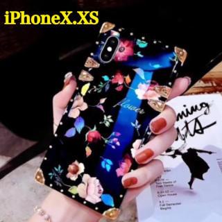 ⭐️SALE⭐️【トランク型 薔薇柄】ブラック iPhoneX.XS(iPhoneケース)