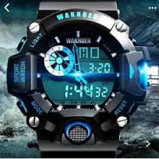 新品!waknoer デジタル腕時計多機能LED(腕時計(デジタル))