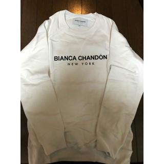 Bianca Chandon クルーネック スウェット Mサイズ ホワイト(スウェット)