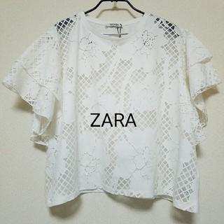 ザラ(ZARA)の未使用 ZARA トップス(カットソー(半袖/袖なし))