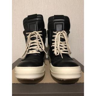 リックオウエンス(Rick Owens)の美品 RickOwens リックオウエンス ジオバスケット スニーカー 42 黒(スニーカー)