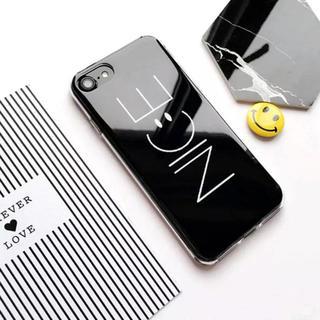 iPhone7 iPhone8 【ブラック】NICE ナイス スマイル ツヤ(iPhoneケース)