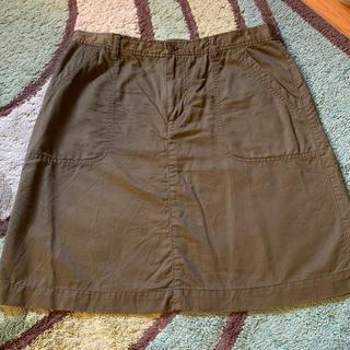 ムジルシリョウヒン(MUJI (無印良品))のカーキスカート(ひざ丈スカート)