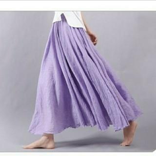 体型カバー ロングマキシ丈スカート (ロングスカート)