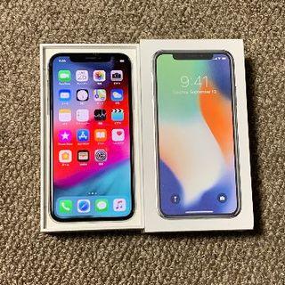 アップル(Apple)の【ラクマ最安】iPhoneX 64GB SB 電池99% APケア+20年9月迄(スマートフォン本体)