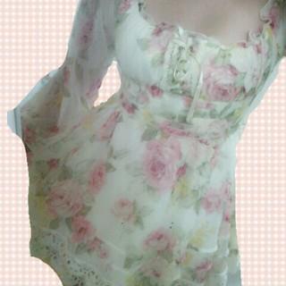 リズリサ(LIZ LISA)のLIZLISA♡花柄シフォンワンピース(ミニワンピース)