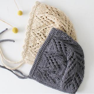 まとめ買い 透かし編みベビーボンネット(ファッション雑貨)