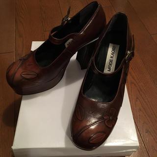 モードカオリ 美品 厚底ローファー(ローファー/革靴)