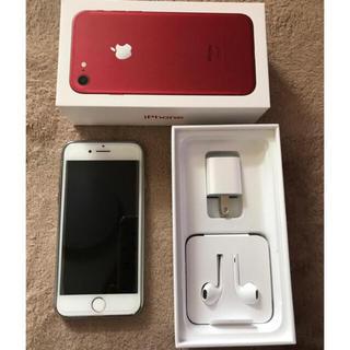 アイフォーン(iPhone)のiPhone7 RED 128GB  simフリー(スマートフォン本体)