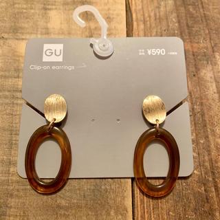 ジーユー(GU)のGU  メタル&オーバルカラーパーツイヤリング(イヤリング)