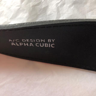 アルファキュービック(ALPHA CUBIC)のレディースベルト 黒 アルファキュービック(ベルト)