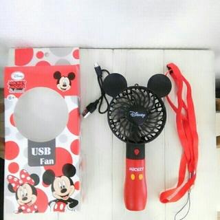 ディズニー(Disney)のつばめたぁん様専用 ミッキー&ミニー ハンディファン(扇風機)