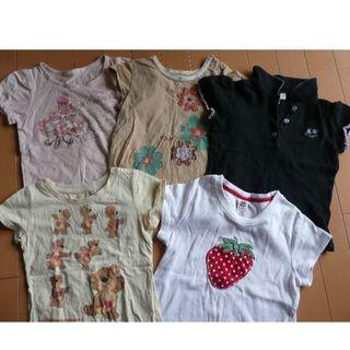 ジーユー(GU)の110センチ トップス5枚セット(Tシャツ/カットソー)