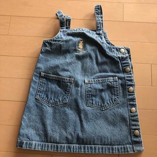 ラルフローレン(Ralph Lauren)のラルフ 3歳 デニムジャンパースカート(ワンピース)