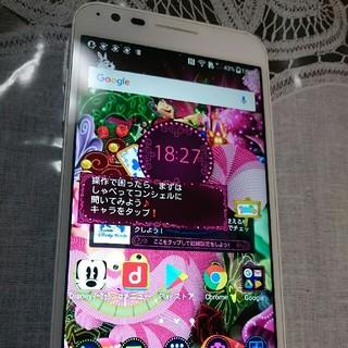 ディズニー(Disney)のdocomo DM-02Hホワイト Disney Mobile(スマートフォン本体)