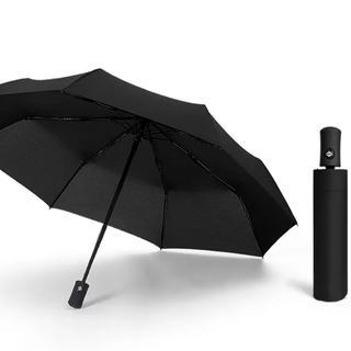 激安ワンタッチ自動開閉式折り畳み傘 晴雨兼用 黒 新品送料込み 即購入OK(傘)