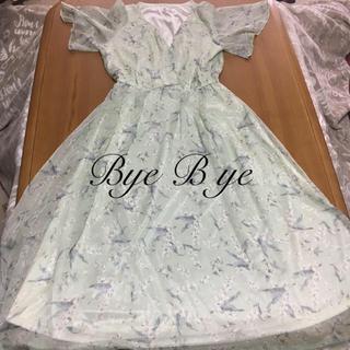 バイバイ(ByeBye)のByeBye花柄ワンピース(ロングワンピース/マキシワンピース)