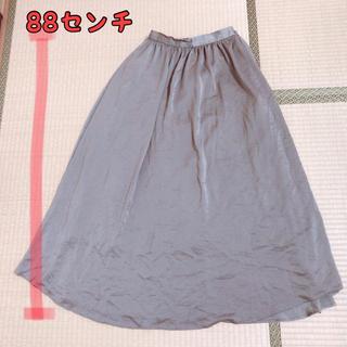 GU - GU  シャカシャカロングスカート  ♡カーキ♡