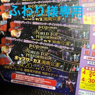 ふわり様専用 ポップアップサーカス 2枚 湘南公演(サーカス)
