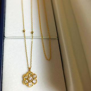 ジュエリーツツミ(JEWELRY TSUTSUMI)のK18YG/K10YGダイヤモンドネックレス & K18YGネックレス セット(ネックレス)