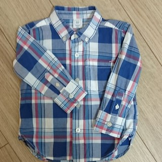 ギャップ(GAP)のGap チェックシャツ 18-24m(シャツ/カットソー)