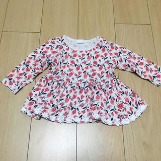 アカチャンホンポ - 花柄チュニック風ロングTシャツ