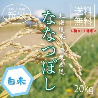 1等米!特A米!新米ななつぼし お米20kg お米 米 ブランド米 農家直送