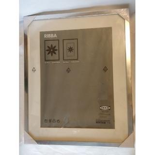 イケア(IKEA)の(未開封)IKEA額縁RIBBAフレーム シルバー(絵画額縁)
