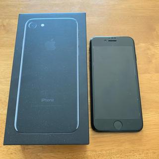 アップル(Apple)のiPhone7 JetBlack 128GB SIMフリー化済(スマートフォン本体)