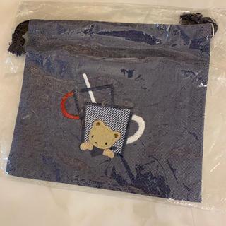 ファミリア(familiar)のpt様、 ファミリア 新品 コップ袋 コップ入れ デニム(ランチボックス巾着)