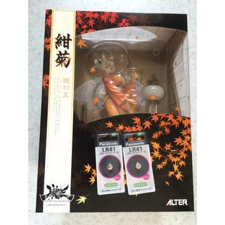 アルター(ALTER)の朧村正 紺菊 1/8 フィギュア おまけ電池(ゲームキャラクター)