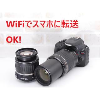 キヤノン(Canon)の★極上美品 WiFi転送OK!キャノン EOS Kiss X7 Wレンズセット★(デジタル一眼)