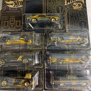 Hotwheels ホットウィール 50周年アニバーサリー ブラック&ゴールド(ミニカー)