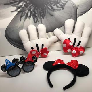 ディズニー(Disney)のディズニー ミニー手袋 カチューシャ サングラス(カチューシャ)
