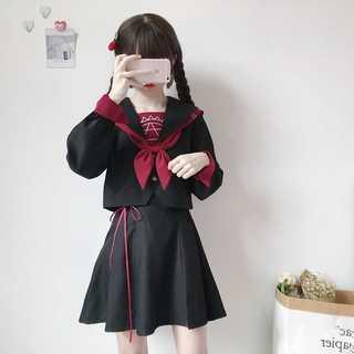 3点セット 大きいサイズ コスプレ セーラー服 アニメ ゴシック 黒 ライブ