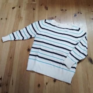 ジーユー(GU)の〈120〉GU ボーダー ニット(Tシャツ/カットソー)