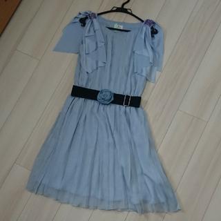 LANVIN水色ドレス38