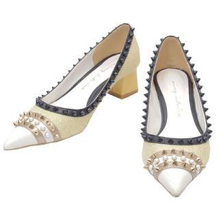 エイミーイストワール(eimy istoire)の♡eimyエイミー♡MALHIA K スタッズコンビローヒールパンプス♡(ローファー/革靴)