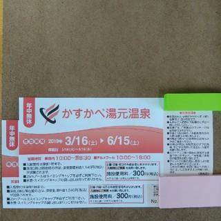 かすかべ湯元温泉 入館券2枚
