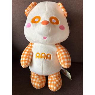 トリプルエー(AAA)の新品 未使用 タグ付き AAA え~パンダ ギンガムチェック ぬいぐるみ 橙(ミュージシャン)