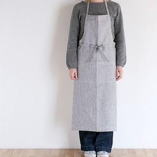 フォグリネンワーク(fog linen work)のfog  linen  work   リネンロングエプロン(お食事エプロン)
