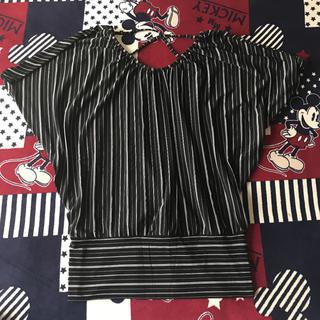 シマムラ(しまむら)のストライプトップ M(Tシャツ(半袖/袖なし))