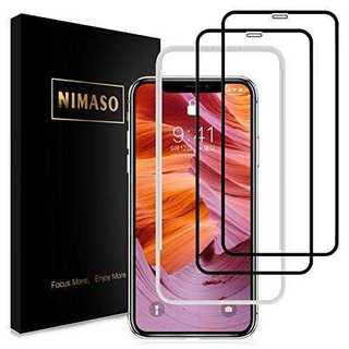 iPhoneXS Max 用 全面保護フィルム液晶強化ガラス