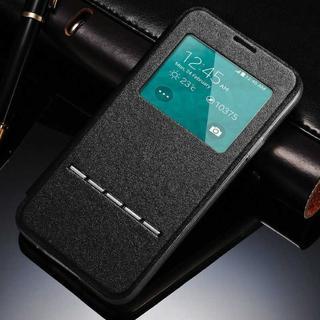 Galaxy S8 ブラック 小窓 閉じたまま通話可能な ケース