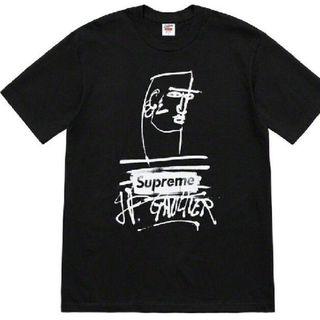 シュプリーム(Supreme)のM Supreme Jean Paul Gaultier Tee Black(Tシャツ/カットソー(半袖/袖なし))