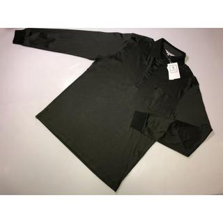 327◆ランバン◆長袖ポロシャツ 長袖シャツ 緑系 40号 Lサイズ コットン