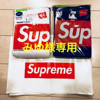 シュプリーム(Supreme)のみゆ様専用 シュプリームTシャツ白黒2枚セット(Tシャツ/カットソー(半袖/袖なし))